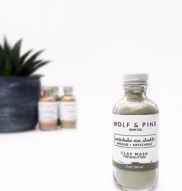 Wolf + Pine Soap Co. Clay Mask / Artichoke Me, Daddy