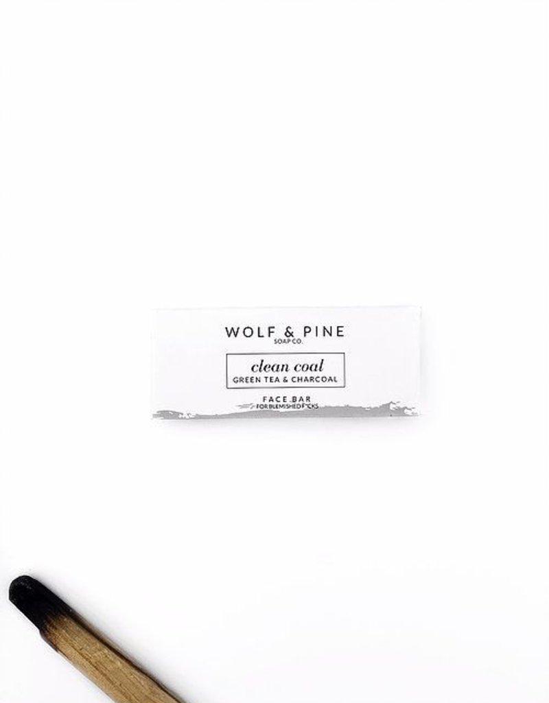 Wolf + Pine Soap Co. Face Bar / Clean Coal