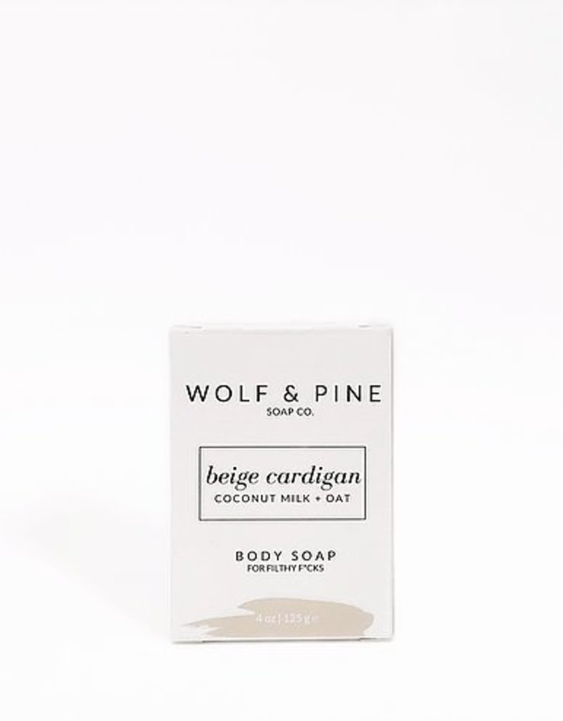 Wolf + Pine Soap Co. Body Soap / Beige Cardigan