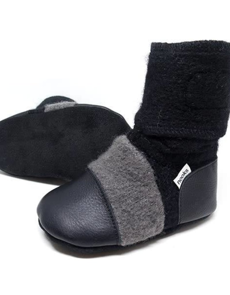Nooks Design Felted Wool Booties - Eclipse
