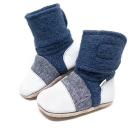 Nooks Design Felted Wool Booties - Deep Sea