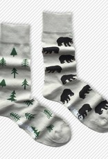 Friday Sock Co. Mid-Calf Socks - Bears + Trees