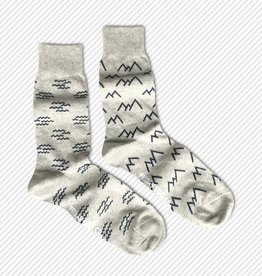 Friday Sock Co. Mid-Calf Socks - Mountains + Waves