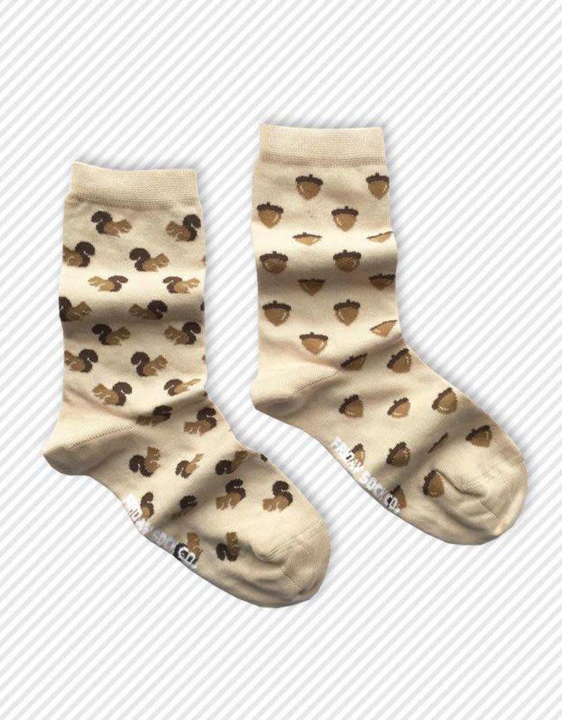 Friday Sock Co. Crew Socks - Squirrel + Acorn