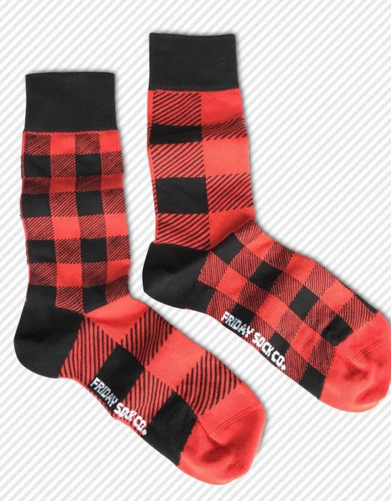Friday Sock Co. Mid-Calf Socks - Plaid