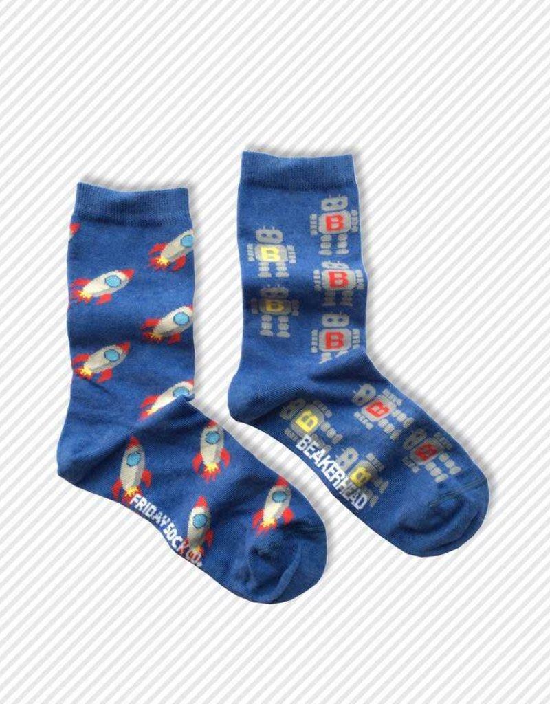 Friday Sock Co. Crew Socks - Robot + Rocketship