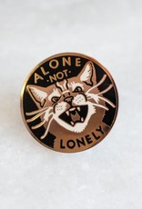 Stay Home Club Not Lonely Lapel Pin