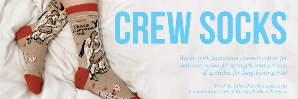 Blue Q Blue Q Womens Crew Socks
