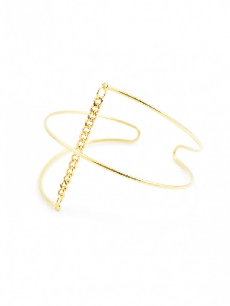 Jewelry Axis Cuff Gold