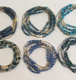 Medusas Heirlooms Swarovski Wrap Bracelet/Necklace
