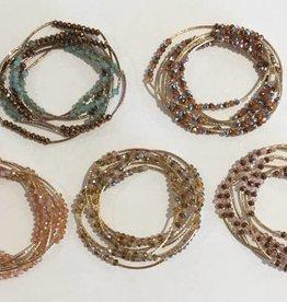Medusas Heirlooms Swarovski Wrap Bracelet/Necklace