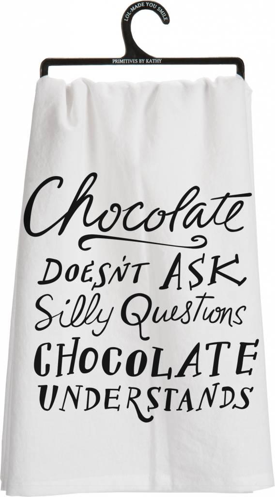 Chocolate Understands Dish Towel
