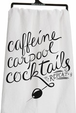 Caffeine, Carpool, Cocktails Dish Towels