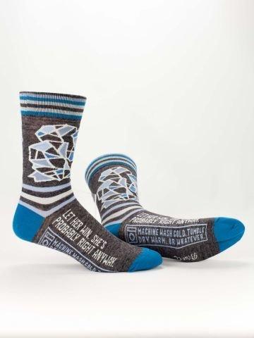 Blue Q Mens Socks Let Her Win