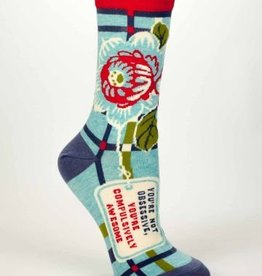 Blue Q Blue Q Womens Socks Compulsively Awesome