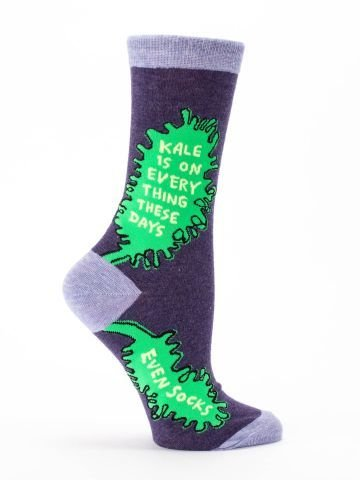 Blue Q Womens Socks Kale