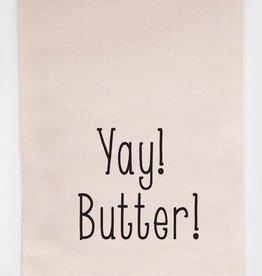 Ellembee Yay! Butter! Tea Towel