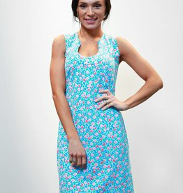 Katherine Way Captiva Dress Circles Turq