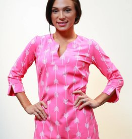 Katherine Way Boca Tunic Pink Arrows