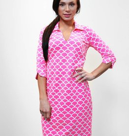 Katherine Way Nola Dress Pink Scales