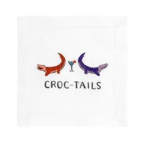 August Morgan Croc-Tails Napkins Set of 4