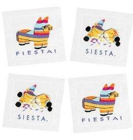 August Morgan Fiesta/Siesta Cocktail Napkins Set of 4