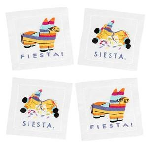 August Morgan Fiesta/Siesta Cocktail Napkins Set of 4