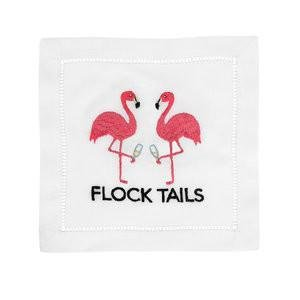 August Morgan Flock Tails Cocktail Napkins Set of 4