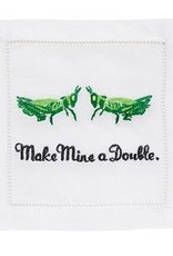 August Morgan Make Mine a Double Cocktail Napkins Set of 4