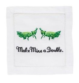 August Morgan August Morgan Make Mine a Double Cocktail Napkins Set of 4