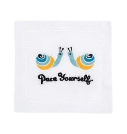 August Morgan August Morgan Pace Yourself Cocktail Napkins Set of 4