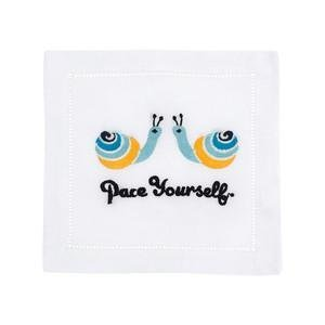 August Morgan Pace Yourself Cocktail Napkins Set of 4