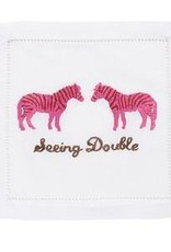August Morgan Seeing Double Cocktail Napkins Set of 4
