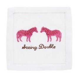 August Morgan August Morgan Seeing Double Cocktail Napkins Set of 4