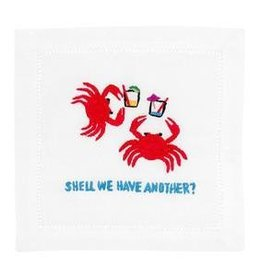 August Morgan Shell We Have Another Cocktail Napkins Set of 4