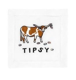 August Morgan Tipsy Cocktail Napkins Set of 4