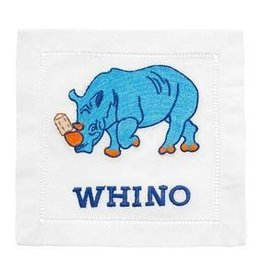 August Morgan Whino Cocktail Napkins Set of 4