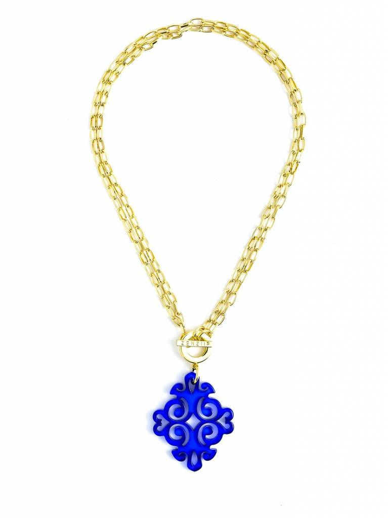 Jewelry Twirling Blossom Pendant Necklace