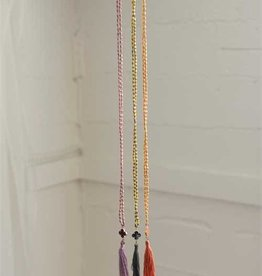 Maison Clover Tassel Necklace