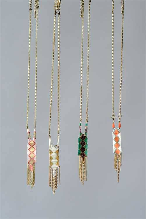 Maison Copper Glass Beaded Necklace