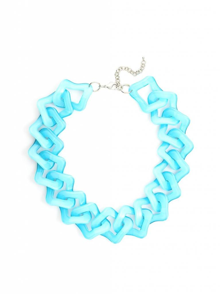 Jewelry Resin Link Necklace