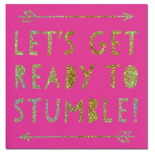 Slant Ready to Stumble Napkins 20CT