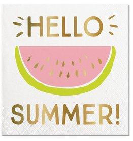 Slant Hello Summer Napkins 20CT