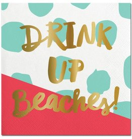 Slant Drink Up Beaches Napkins 20CT