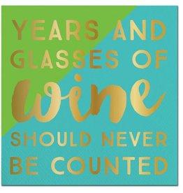 Slant Years and Wine Napkins 20CT