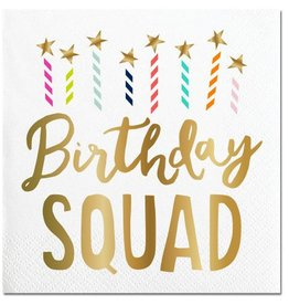 Slant Birthday Squad Napkins 20CT