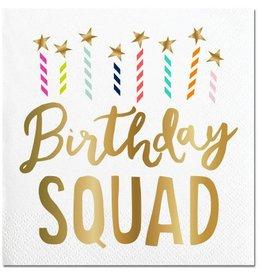 Slant Birthday Squad Napkins 20CT