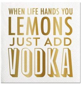 Slant Lemons Add Vodka Napkins 20CT
