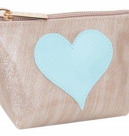 Lolo Blue Heart Pouch