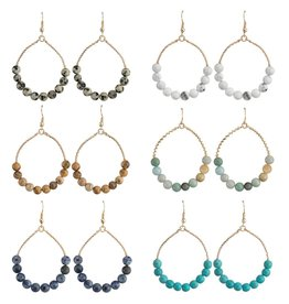 Jewelry Jemology Beaded Hoop Earring